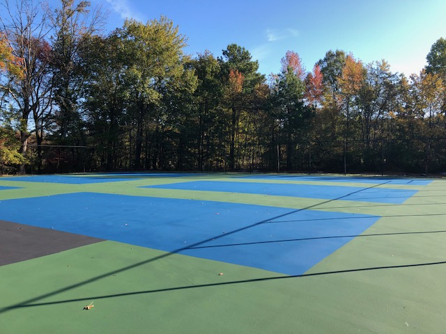 Pickle Ball courts and Tennis Court 5