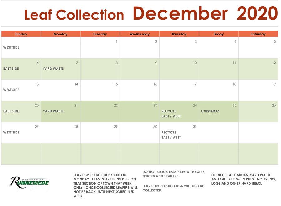 December-2020b Leaf Schedule