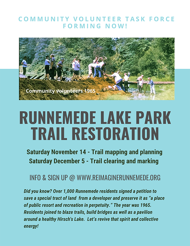 RUNNEMEDE LAKE PARK TRAIL RESTORATION
